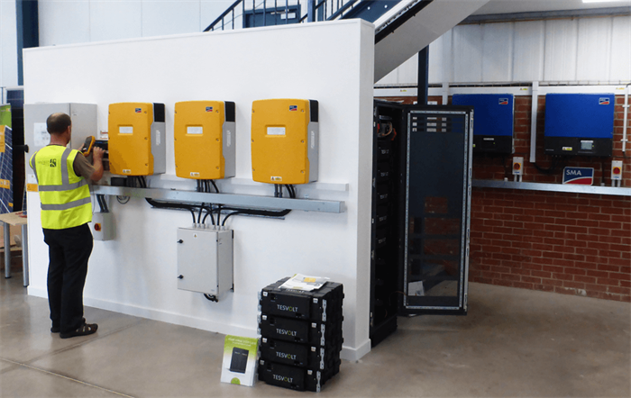 Wind & Sun SMA-Tesvolt Back Up System Commissioning