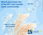 Wind & Sun Isles Installation Map Canna, Sanday and Fair Isle
