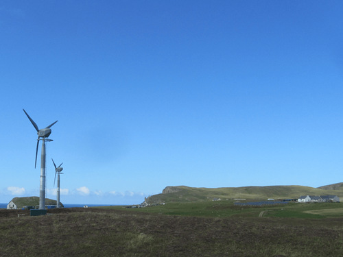 Fair Isle Solar PV and Wind Turbines
