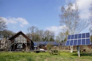 Wind & Sun 's Office And Training Centre , With Solar Tracker , SEN SOL-50 And Integrated Photovoltaic Panels 03