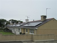 REC Solar PV Panels On Council Bungalows Anglesey 01