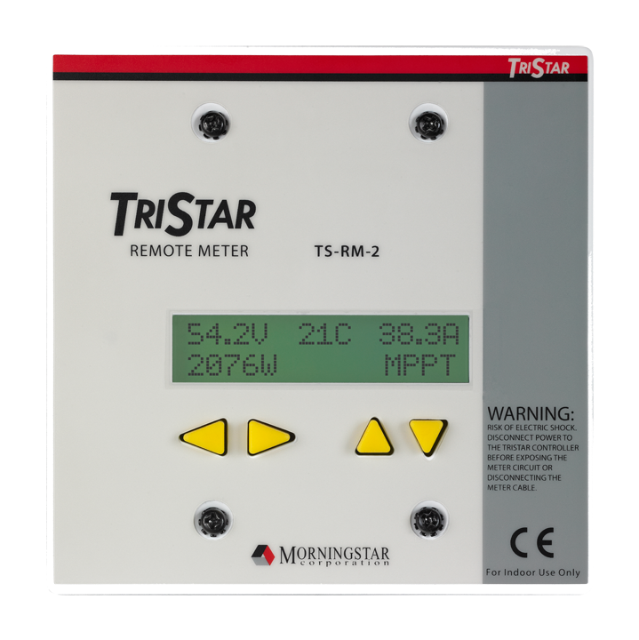 morningstar charge controllers wind sun morningstar tristar remote meter 2