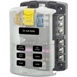 Standard Blade Fuse Box 6 Circuits With Negative Bus Bar And Cover 12 Or 24 VDC