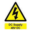 W&S DC Supply 48V DC Label