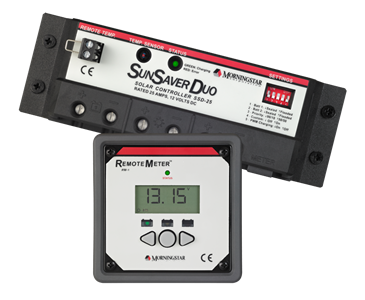 Morningstar SunSaverDuo 25 and Remote Meter