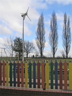 Kingspan Wind Turbine in School Playing Field