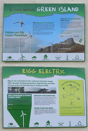 Isle Of Eigg Information Boards
