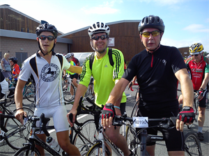 Iain Duggan, James Ford and Kelvin Pulker cycle for St. Michael's Hospice