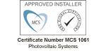 MCS Approved Installer BRECERT Black WS05
