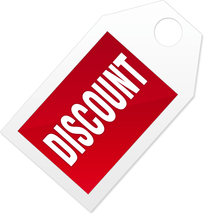 Discount Label Red