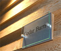 Cedar Barn By Deluxe Developers Name Plate