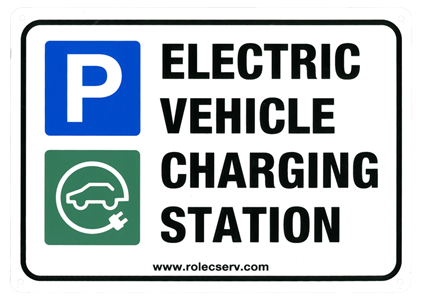 Rolec Electric Vehicle Charging Station Sign