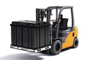Aquion Energy M100 Battery Module On Forklift