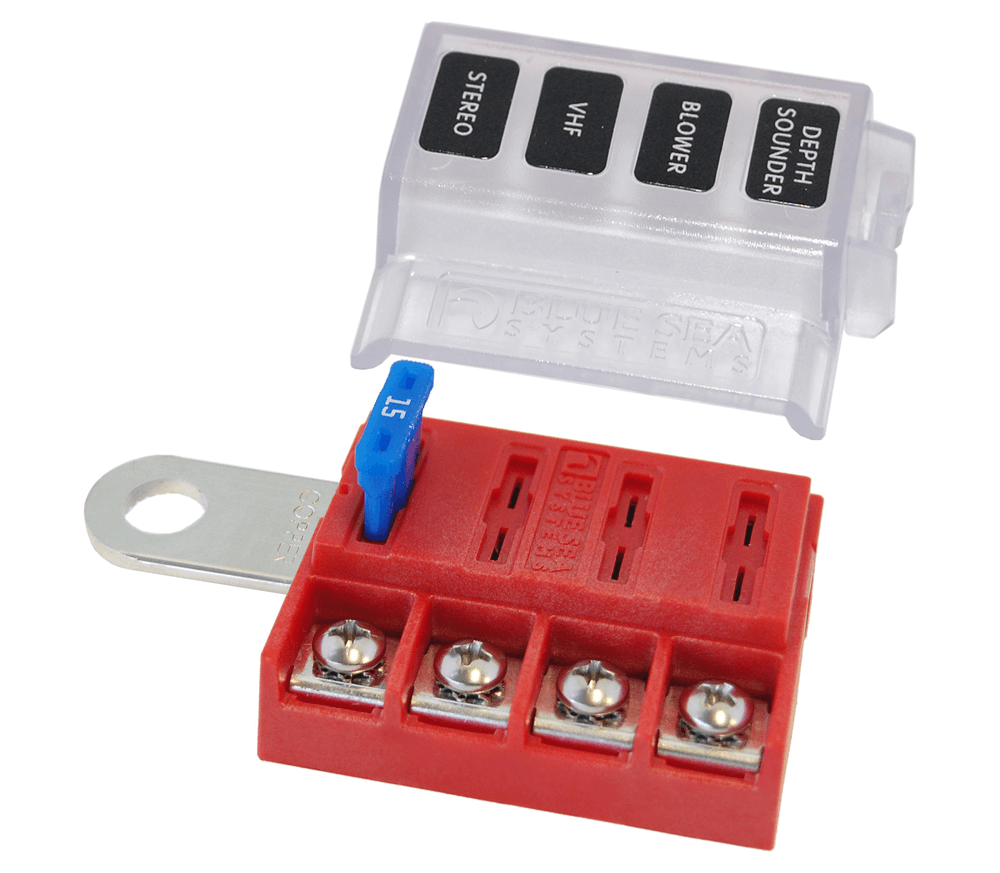 12 24 v dc circuit fuses and boxes wind \u0026 sun Automotive Fuse Box st blade battery terminal mount fuse block