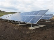 Isle Of Muck REC Solar PV Panels On Schletter Ground Mounts