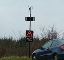 Leading Edge LE-300 Wind Turbine Road Sign