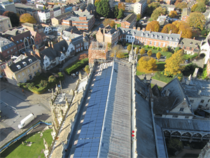 REC Solar Panels on Gloucester Cathedral