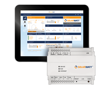 Solarwatt Energy Manager and Tablet