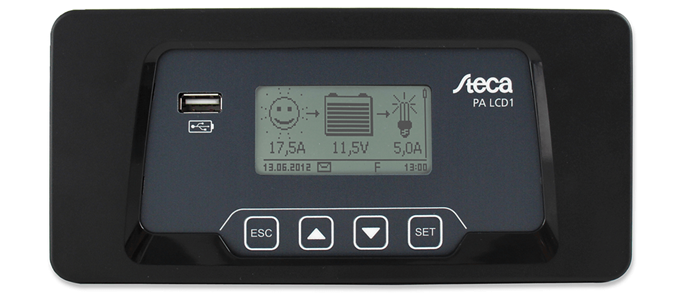 Steca PA LCD1 Remote Display For Steca Solarix 2020 X2 Front