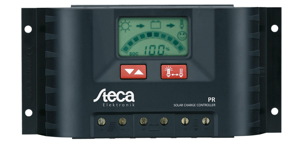 Steca PR 3030 Solar PV Charge Controller Front Transparent