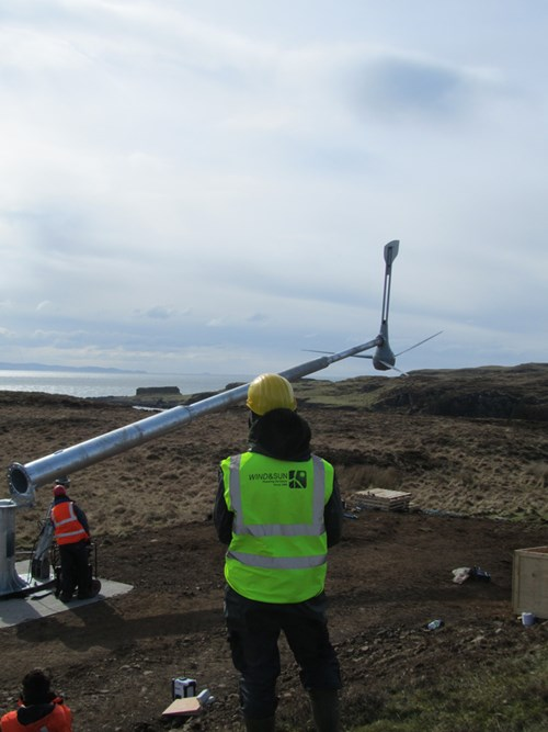 Isle Of Muck Evance Wind Turbine Installation