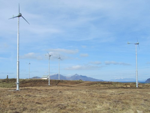 Isle Of Muck Evance Wind Turbines