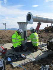Isle Of Muck SSE Wiring And Testing Evance Wind Turbine