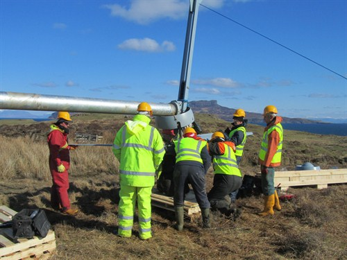 Isle Of Muck Evance Wind Turbine Installation 02